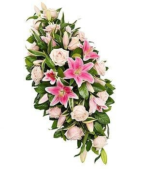 Rose & Lily Double Ended  Funeral Spray.
