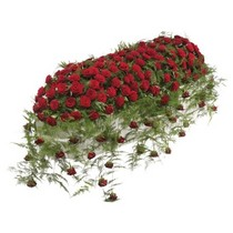 Luxury Red Rose Coffin Top Spray.