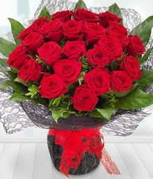 A1 Two Dozen red Roses*