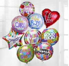Balloons  Happy Birthday, MOTHERS DAY , Happy Anniversary & New Baby etc