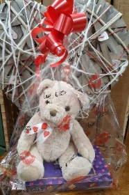 Teddy and Chocolates Gift Wrapped